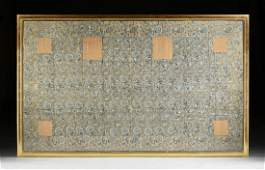 AN ANTIQUE JAPANESE BUDDHIST PRIEST SILK BROCADE KESA