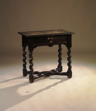 1: AN 18TH CENTURY WILLIAM AND MARY STYLE carved pine o
