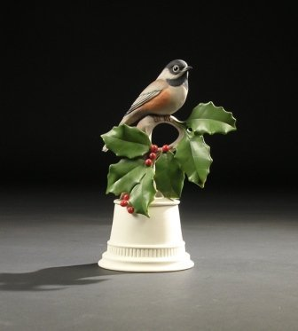 "9: A BOEHM SCULPTURE, ""Black Capped Chickadee."" No. 438"