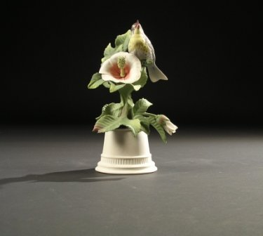 "14: A BOEHM SCULPTURE, ""Yellow Throated Warbler."" No. 4"