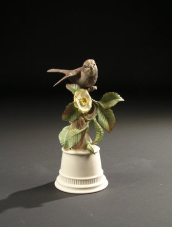 "19: A BOEHM SCULPTURE, ""White Throated Sparrow."" No. 43"
