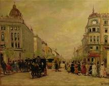 """ANTAL BERKES (Hungarian 1874-1938) A PAINTING,  """"S"""