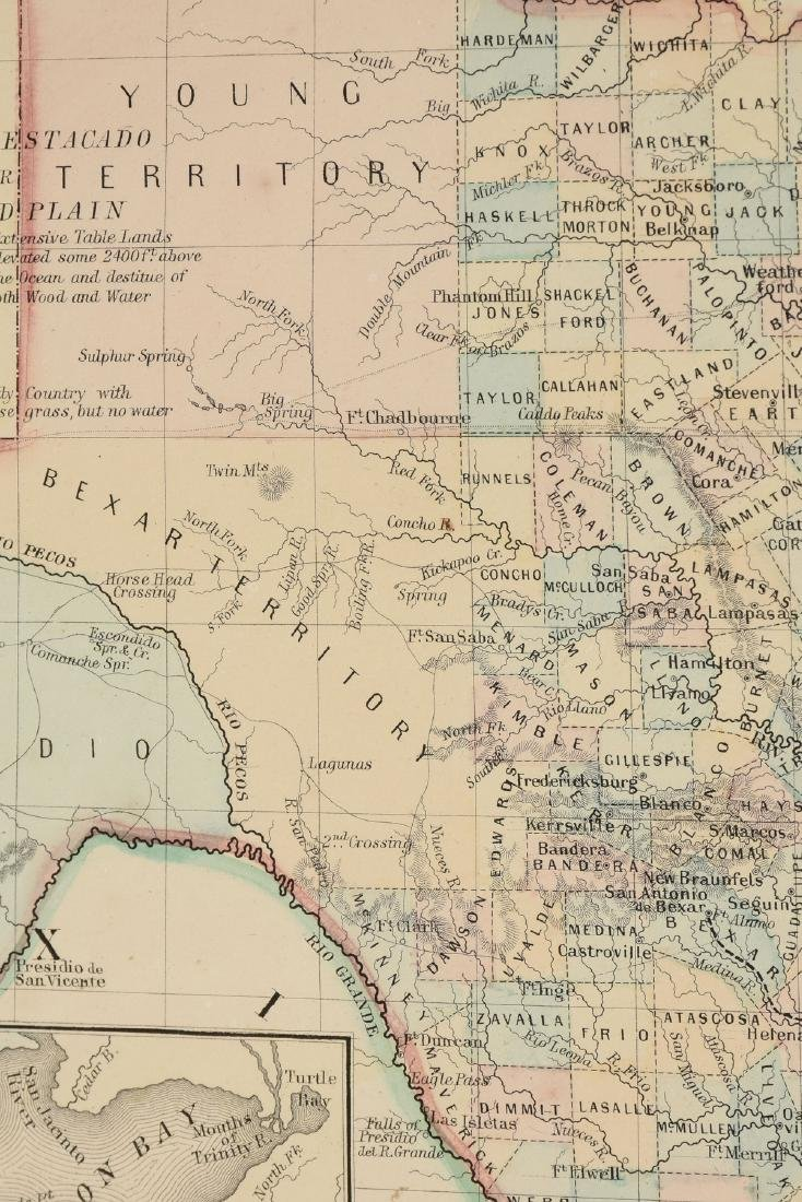 "AN ANTIQUE MAP, ""County Map of Texas,"" - 7"