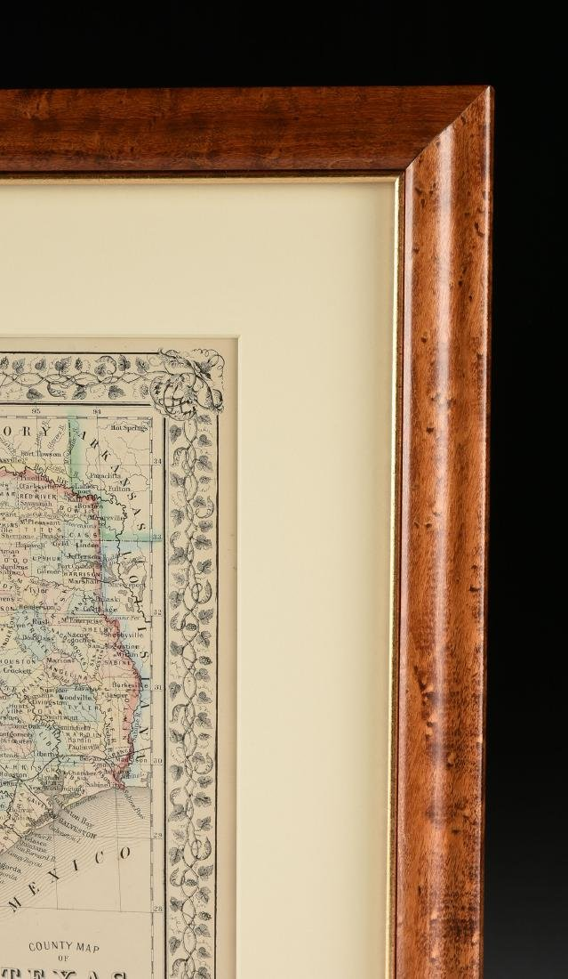 "AN ANTIQUE MAP, ""County Map of Texas,"" - 3"