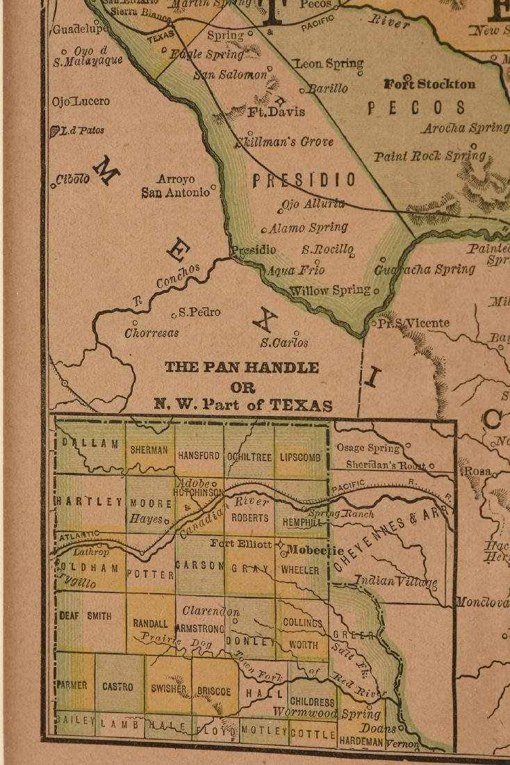 """AN ANTIQUE MAP, """"Map of Texas,"""" LATE 19TH/EARLY 20TH - 2"""