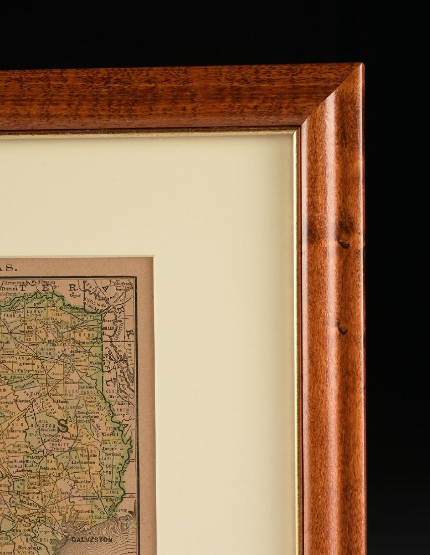 """AN ANTIQUE MAP, """"Map of Texas,"""" LATE 19TH/EARLY 20TH - 3"""