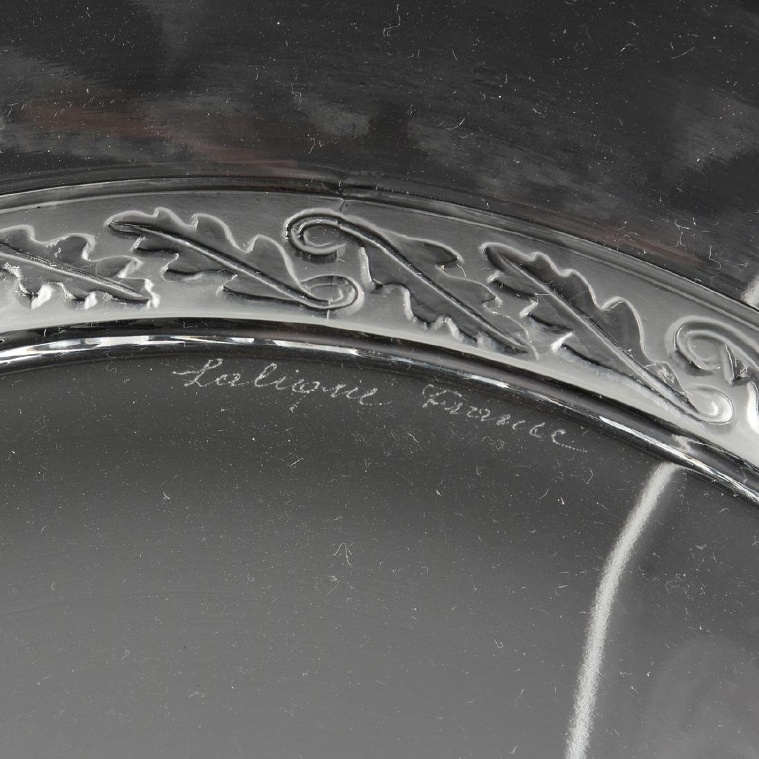 A GROUP OF FOUR LALIQUE CLEAR AND FROSTED GLASS TABLE - 3
