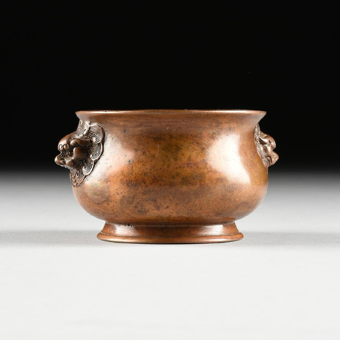 A SMALL CHINESE ARCHAISTIC STYLE BRONZE CENSER, SQUARE