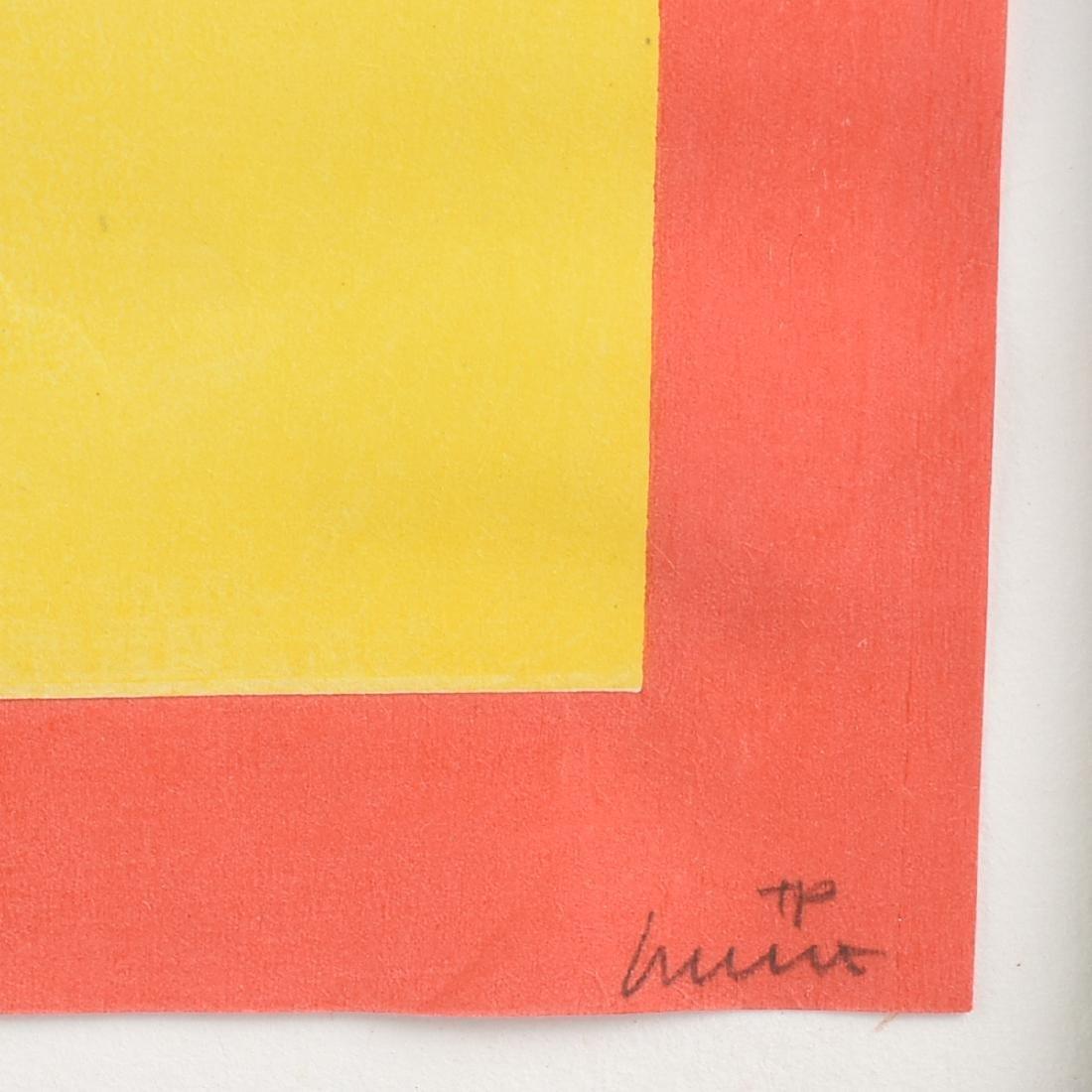 """AN OP ART STYLE SILKSCREEN PRINT, """"Descending Stairs,"""" - 3"""