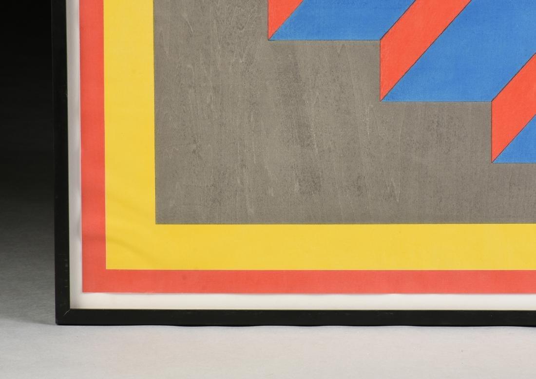 """AN OP ART STYLE SILKSCREEN PRINT, """"Descending Stairs,"""" - 6"""