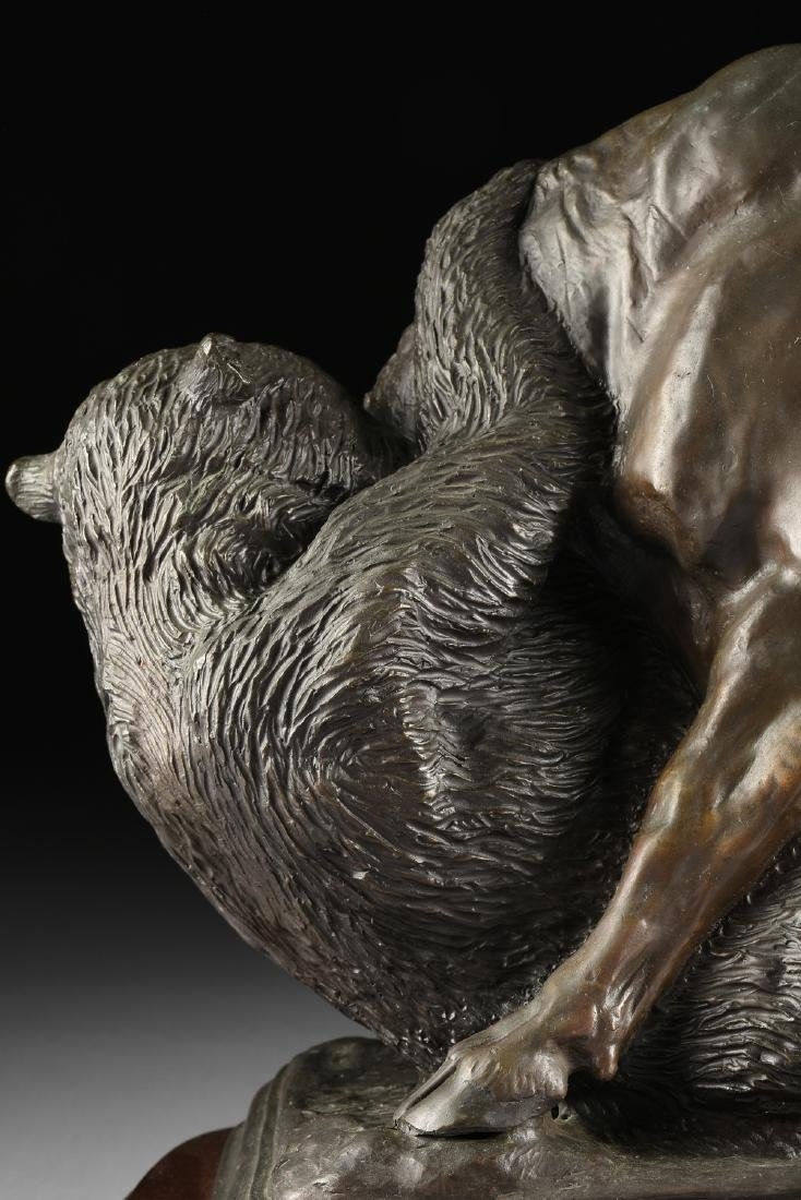 after ISIDORE JULES BONHEUR (French1827-1901) A BRONZE - 9