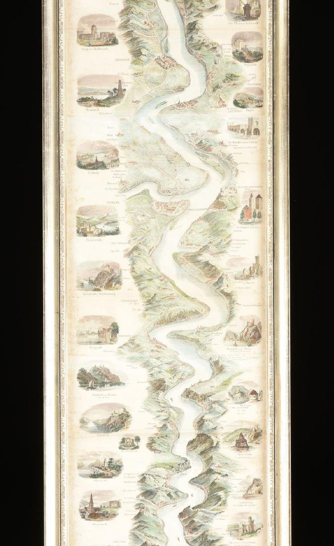 "A MAP, ""New Panorama of the Rhine from Mainz to - 4"
