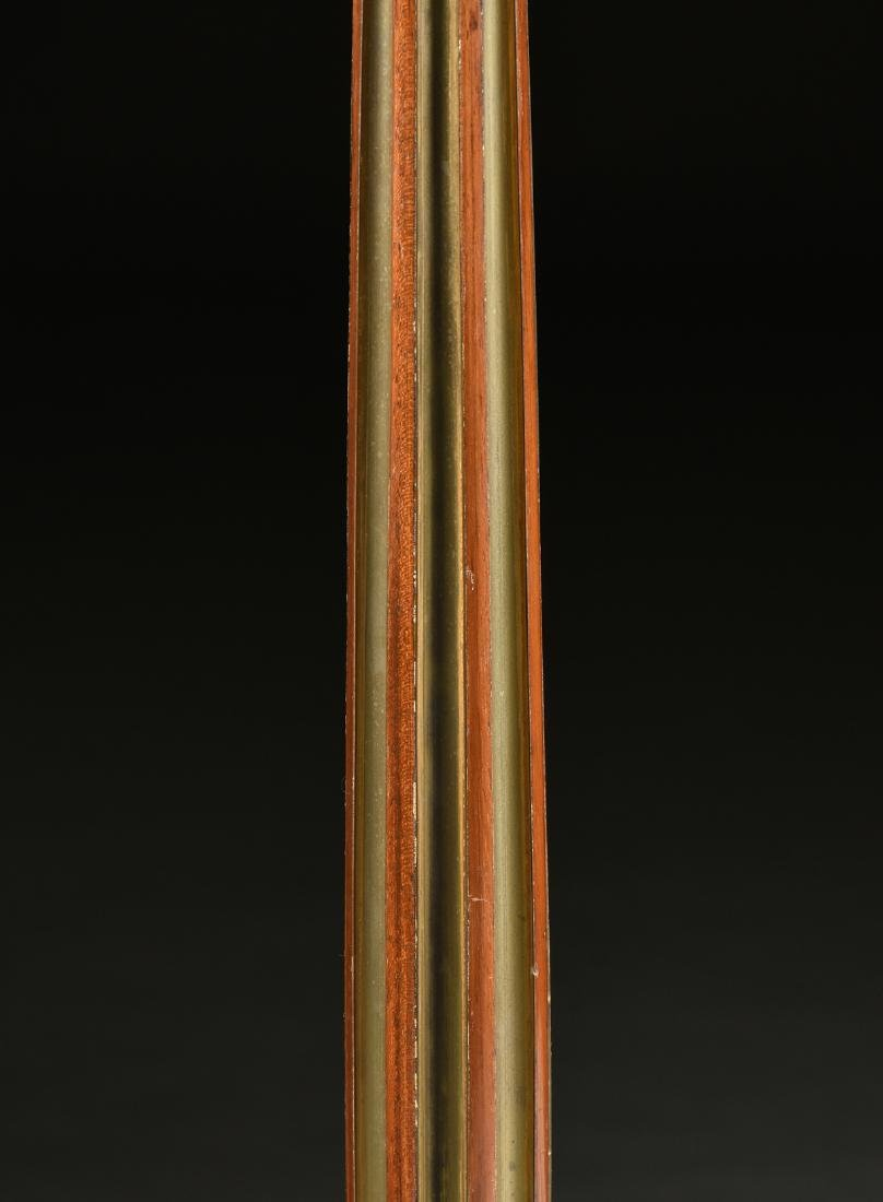 A LOUIS XVI ORMOLU AND WHITE MARBLE MOUNTED FLAME - 7