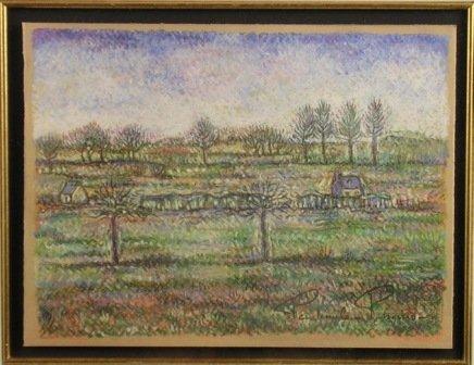 355: PAUL-EMILE PISSARRO (French 1884-1972)  A PASTEL,