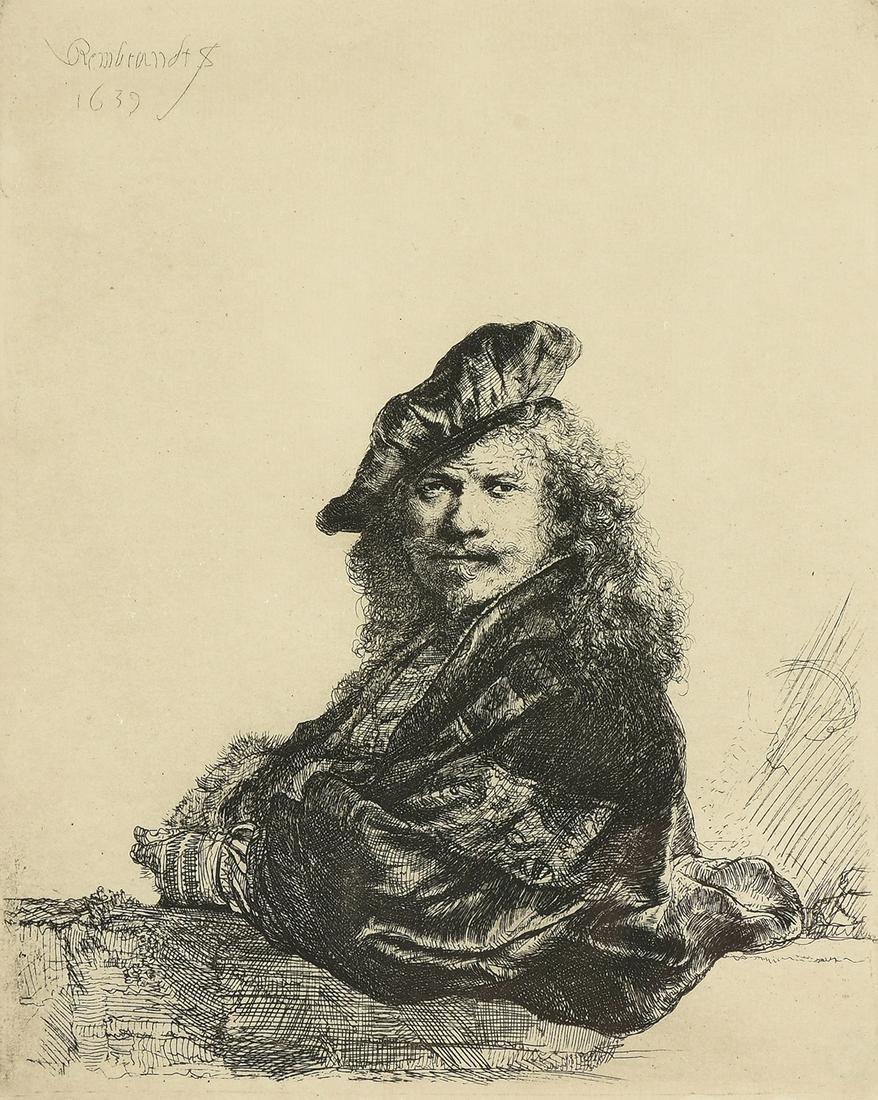 after REMBRANDT VAN RIJN (Dutch 1606-1669) A PRINT,