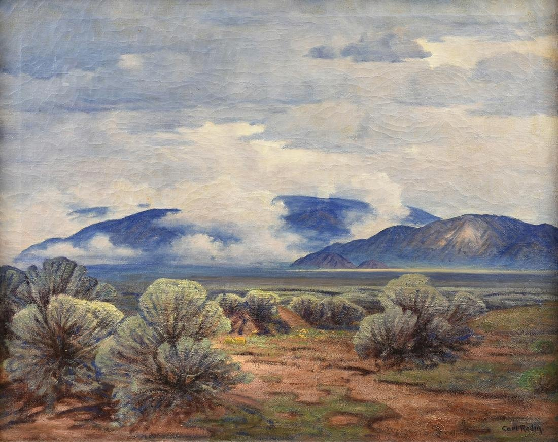 """CARL REDIN (American 1892-1944) A PAINTING, """"Storm on"""