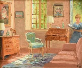 """MARCEL DYF (French 1899-1985) A PAINTING, """"Le Salon de"""