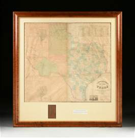 "A RARE ANTIQUE CIVIL WAR ERA MAP, ""Pressler's Map of"