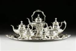 """A SEVEN PIECE STERLING SILVER REED AND BARTON """"FRANCIS"""