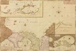 AN ANTIQUE MAP Carte particulire de Isthmus ou