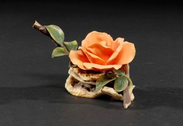 "7: A BOEHM ROSE SCULPTURE, ""Lovers meeting Rose,""  made"