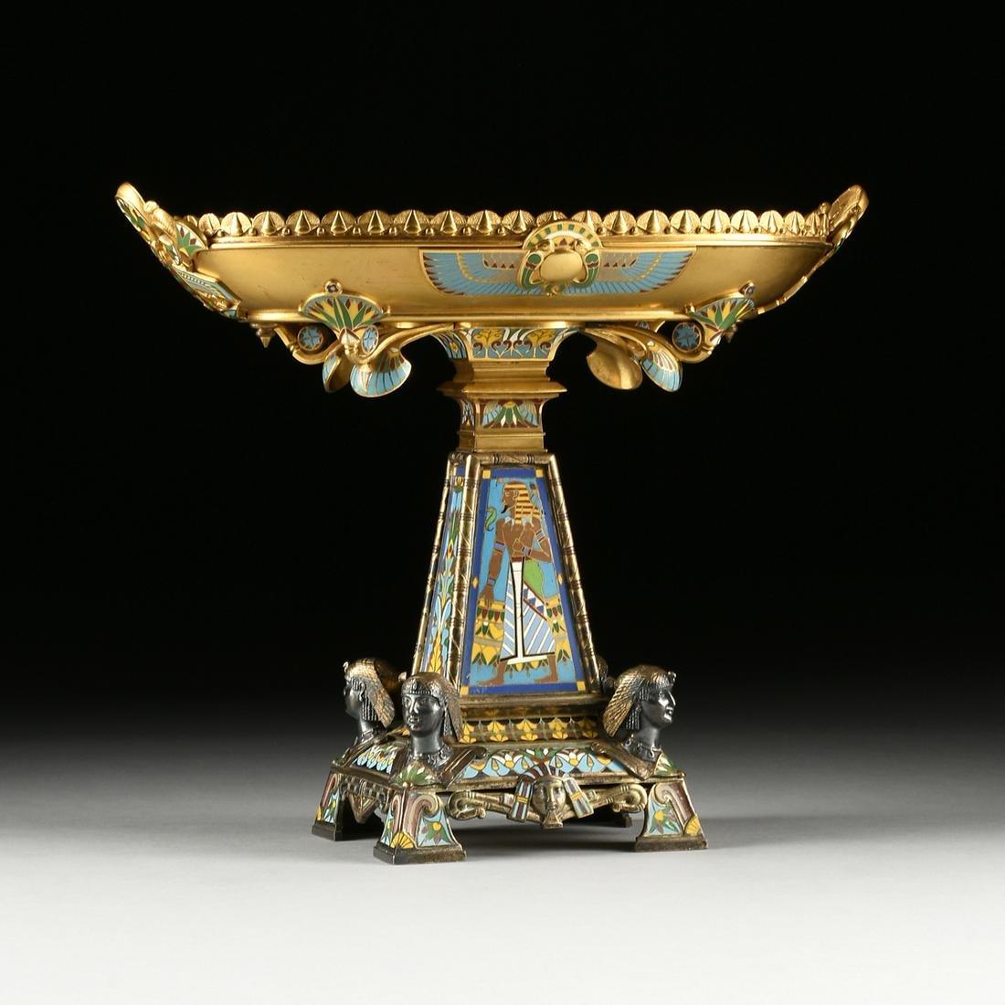 A PHILADELPHIA EXHIBITION EGYPTIAN REVIVAL GILT