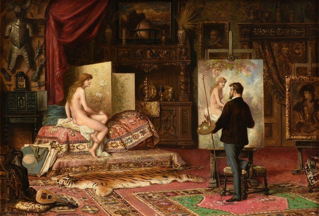 CARL SCHWENNINGER II (Austrian 1854-1903) A PAINTING,