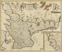 AN ANTIQUE MAP Accurata Scani Belkingi et