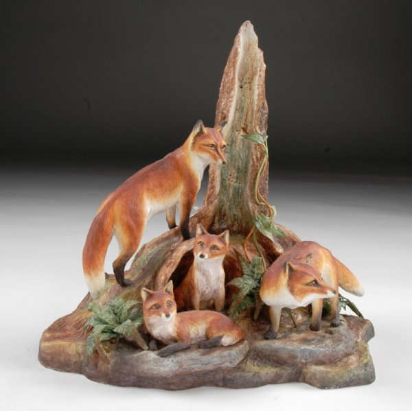 "3: A LIMITED EDITION BOEHM SCULPTURE, ""Red Fox Family."""