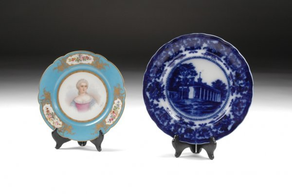 6: AN EARLY 19TH CENTURY ENGLISH BLUE TRANSFER WARE DIS