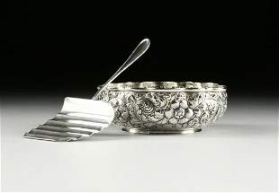 "A BUCCELLATI ""PARMA"" SILVER ASPARAGUS SERVER AND A"