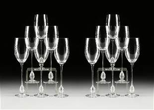 "A SET OF TWELVE ROSENTHAL ""STUDIO LINE"" RED WINE"