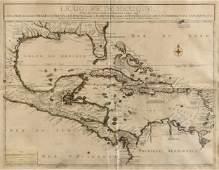 AN ANTIQUE MAP Le Golfe de Mexique PARIS 1717