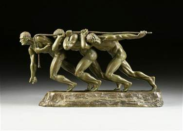 MAURICE GUIRAUD-RIVIÈRE (French 1881-1947) A BRONZE