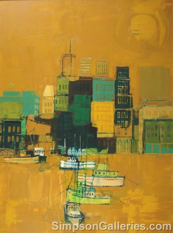 """13: HERB MEARS (American 1923 - 1999) A PAINTING, """"GALV"""