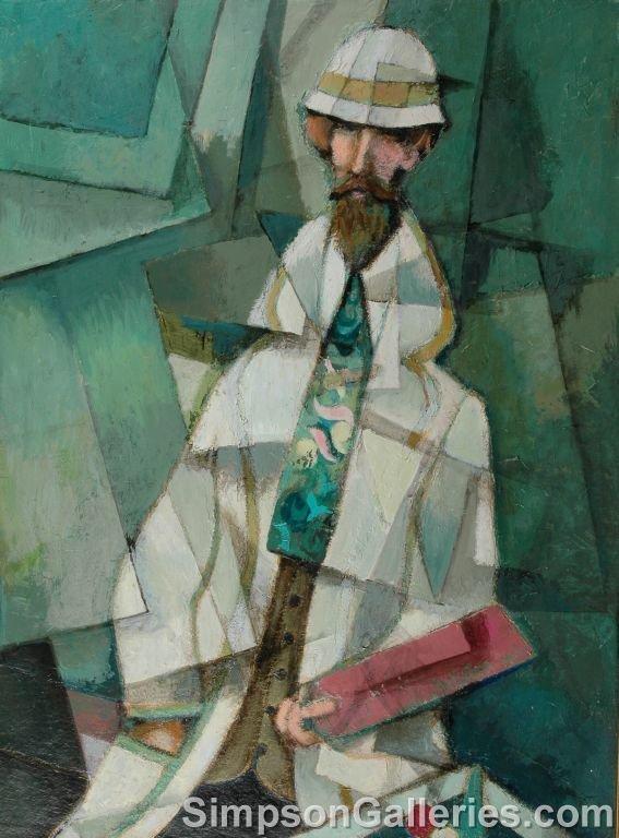 "16: DAVID ADICKES (American b. 1927)  a painting, ""Gent"