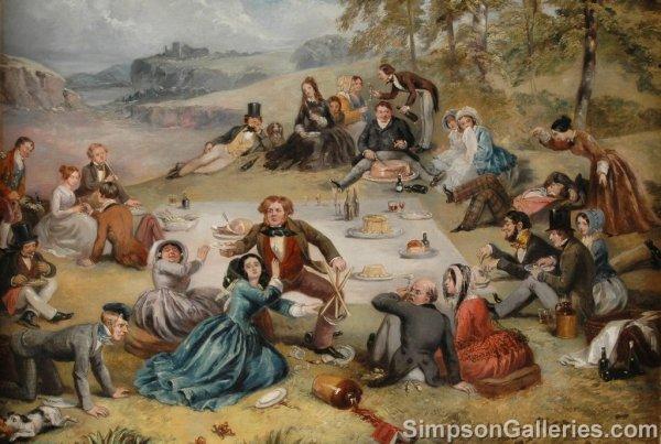 "102: RICHARD DOYLE (British 1824 - 1883)  A PAINTING, """