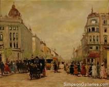 """ANTAL BERKES (Hungarian 1874-1938)  A PAINTING, """""""