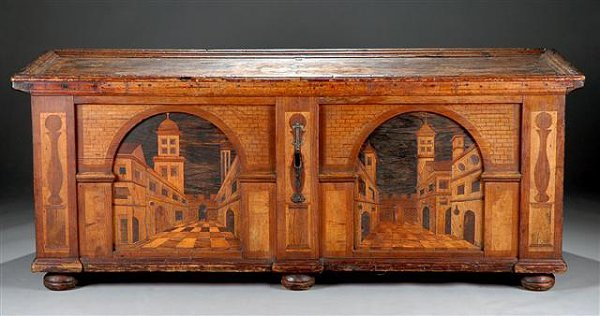 136: AN ITALIAN RENAISSANCE CARVED WALNUT AND VARIOUS W