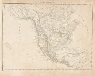 """A REPUBLIC OF TEXAS MAP, """"Nord America,"""" CARL FLEMMING,"""