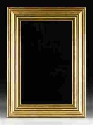 A VINTAGE GILT WOOD MIRROR, CANADIAN, LATE 20TH