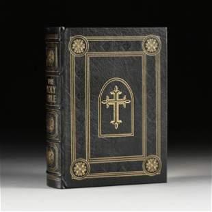 AN EASTON PRESS FAMILY BIBLE, KING JAMES VERSION, LATE