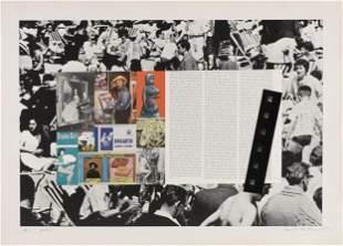 """DEREK BOSHIER (British b. 1937) A PRINT """"Artist"""