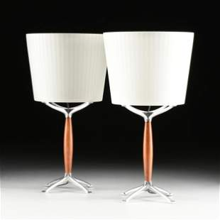 """A PAIR OF """"ORIONE"""" TABLE LAMPS, RODOLFO DORDONI FOR"""