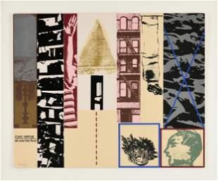 """R.B. KITAJ (American 1932-2007) A PRINT, """"Civic Virtue"""