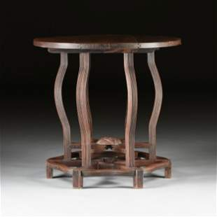 A CHINESE HARDWOOD COLLAPSIBLE BISTRO TABLE, LATE QING