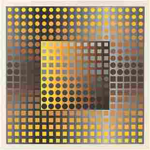 VICTOR VASARELY (Hungarian 1906-1997) A PRINT, FROM