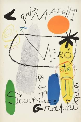 "JOAN MIRO (Spanish 1893-1983) A PRINT, ""Galerie Maeght:"