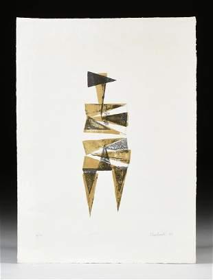 "LYNN CHADWICK (British 1914-2003) A PRINT, ""Figure I,"""