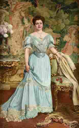 EUGÈNE SIBERDT (Belgian 1851-1931) A PAINTING,